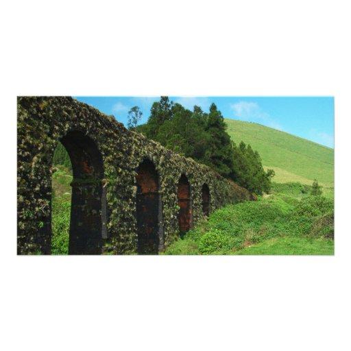 Old aqueduct photo card