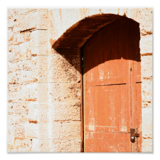 Old Arch Door print
