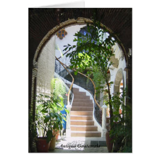 Old Arch to Stairway in Antigua Guatemala Card