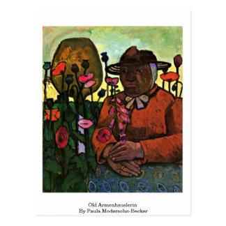 Old Armenhauslerin By Paula Modersohn-Becker Postcard