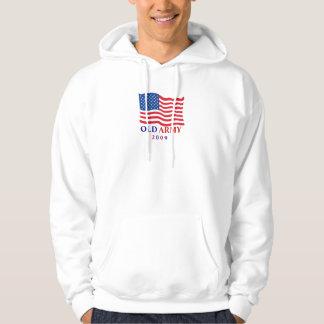 OLD ARMY AMERICAN FLAG HOODED SWEATSHIRT SHIRT