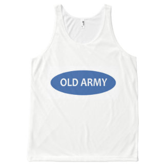 Old Army Logo Tank Top Unisex White