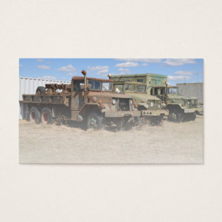 old army vehicles business card