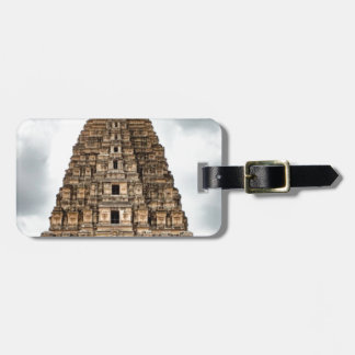 old asian castle luggage tag