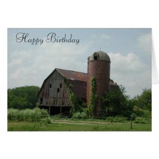 Old Barn Birthday Card