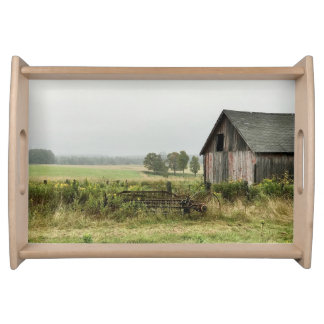 Old Barn Countryside Serving Tray