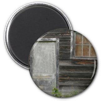 old barn door and window magnet
