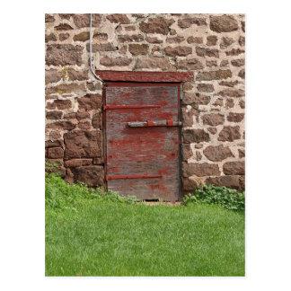 Old Barn Door Postcard