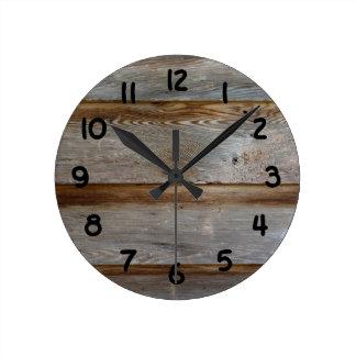 Old Barn Door Wood Clocks