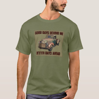 Old barn-find GMC pickup with text T-Shirt