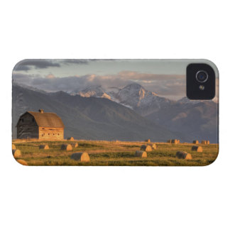 Old barn framed by hay bales and dramatic iPhone 4 Case-Mate case