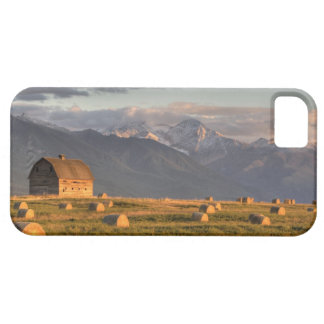 Old barn framed by hay bales and dramatic iPhone 5 covers