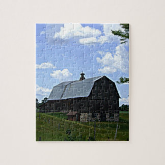 Old Barn In Wisconsin Puzzle