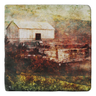 Old Barn Photo Painting Custom Trivet