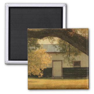 Old barn square magnet