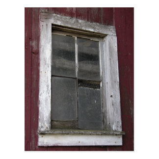 Old Barn Window Postcard
