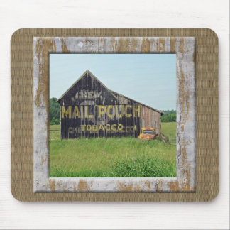 Old Barn With Painted Advertising Mouse Pad