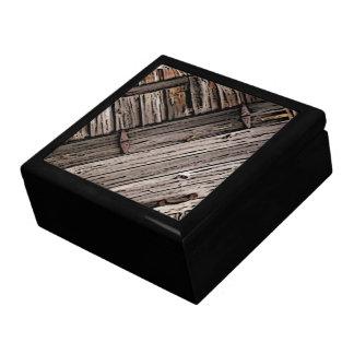 Old Barn Wood Abstract Trinket Box
