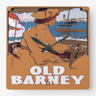 OLD BARNEY, Barnegat Lighthouse Vintage Style Wallclock