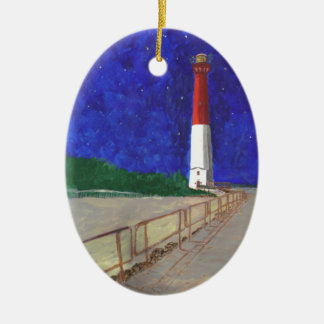 Old Barney Lightiouse, LBI New Jersey Ceramic Ornament