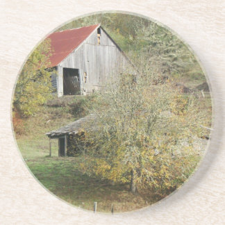 Old Barns Rural Country Scenic Farm Drink Coasters