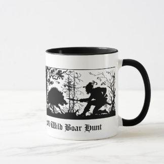 Old Bavarian Style Wild Boar Pig / Wild Boar Hunt Mug