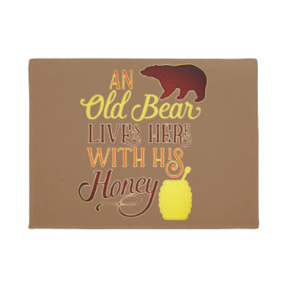 Old Bear Lives Here Doormat