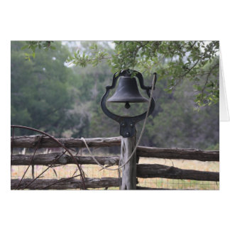 Old Bell on a Fence Card