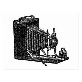 Old Bellows Camera - Vintage Illustration Postcard