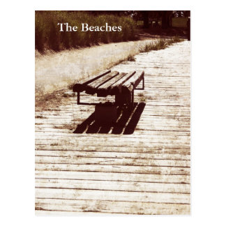old bench - the beaches, toronto postcard