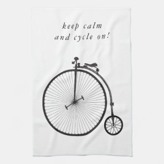 Old bicycle, bike, velocipede - to cycle quotes kitchen towel