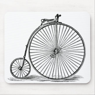 Old_Bicycle_Vintage-Art_Unisex Mouse Pad