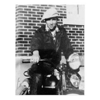Old Biker Postcard