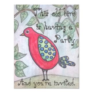 Old bird's party invitation