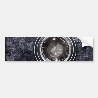Old black camera bumper sticker