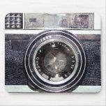 Old black camera mousepads
