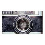 Old black camera pack of standard business cards