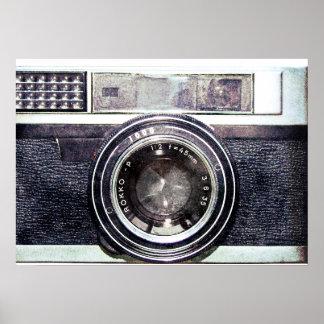 Old black camera poster