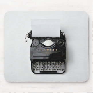 old black classic vintage typewriter mouse pad
