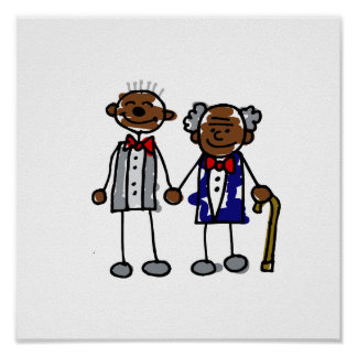 Old Black Gay Couple Print