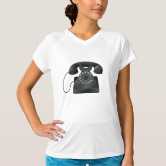 Old Black Phone Womens Active Tee