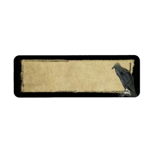 Old Black Raven- Prim Return Address Labels...
