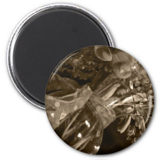 Old Blossoms 2 Inch Round Magnet