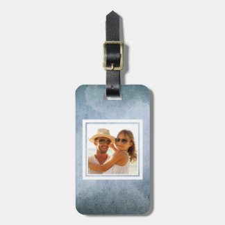 Old Blue & Black Watercolor Paper | Add your Name Luggage Tag