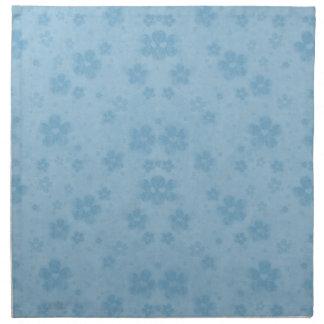 Old blue paper flowers napkin