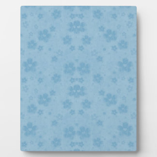 Old blue paper flowers plaque