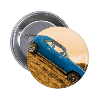 Old Blue Plymouth Barracuda Pinback Buttons
