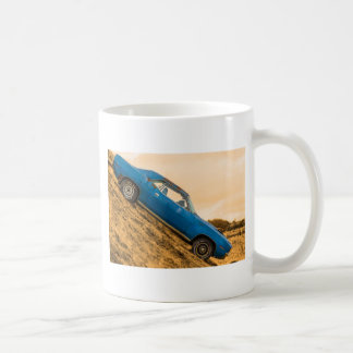Old Blue Plymouth Barracuda Classic White Coffee Mug