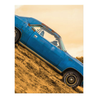 Old Blue Plymouth Barracuda Custom Letterhead