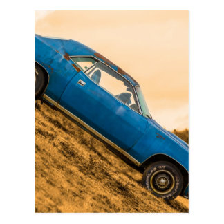 Old Blue Plymouth Barracuda Post Cards